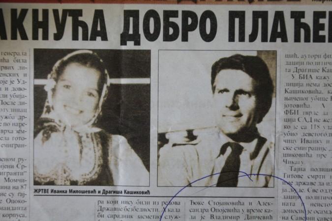 MONSTRUOZNO UBISTVO Tajna policija likvidirala je Ivanku Milošević i Dragišu Kašikovića