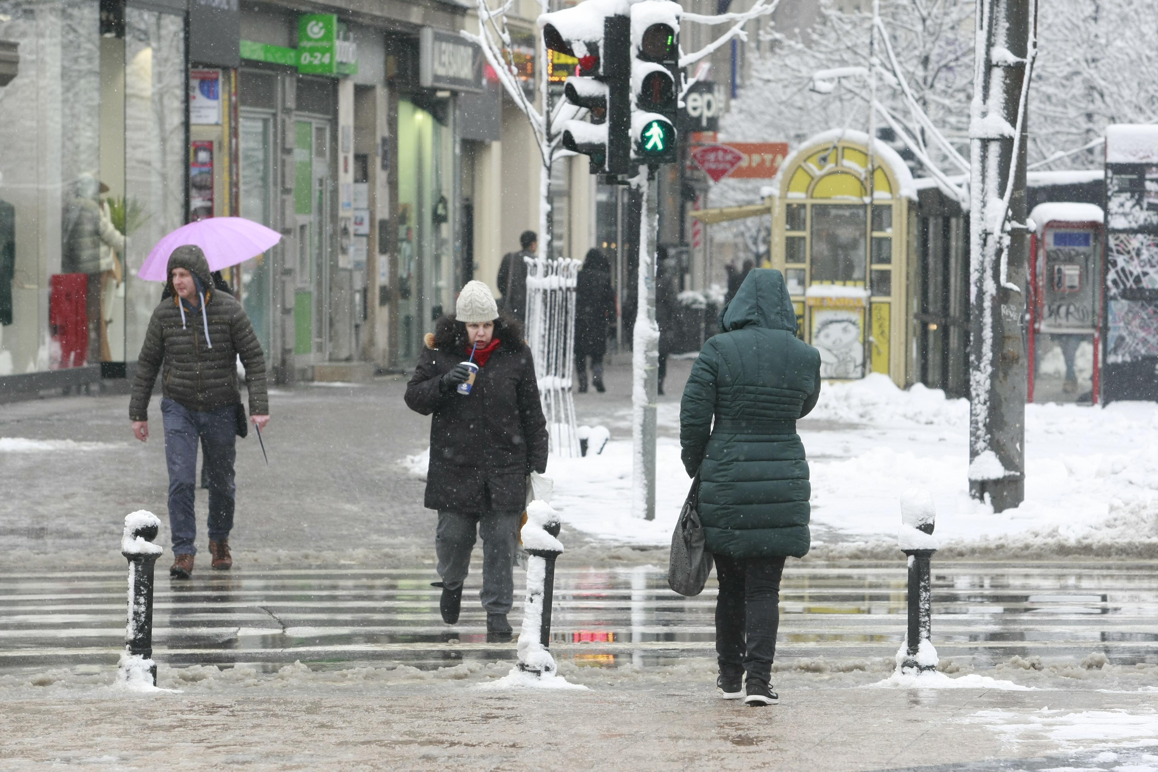 Beograd, 24.01.2019. -Sneg u Beogradu.  (BETAPHOTO/MILOS MISKOV/MO)