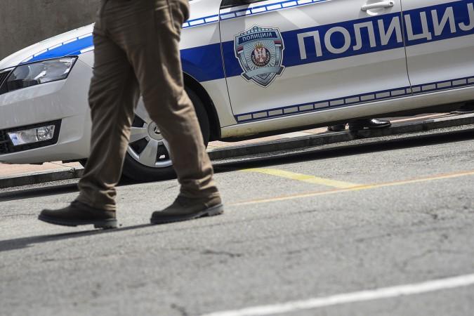 Beograd - 7 June, 2019: Policijski auto na ulicama Beograda