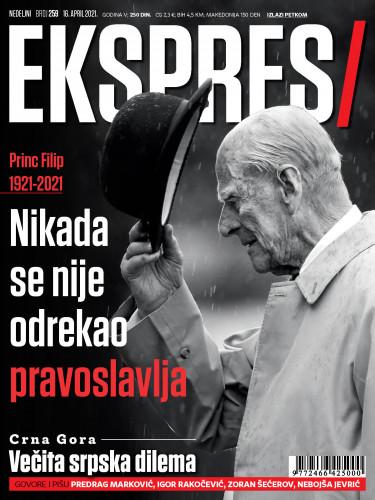 Princ Filip, Naslovna strana Ekspresa