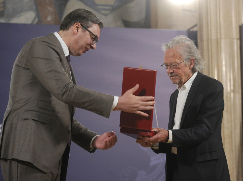 Piter Handke i Aleksandar Vučić
